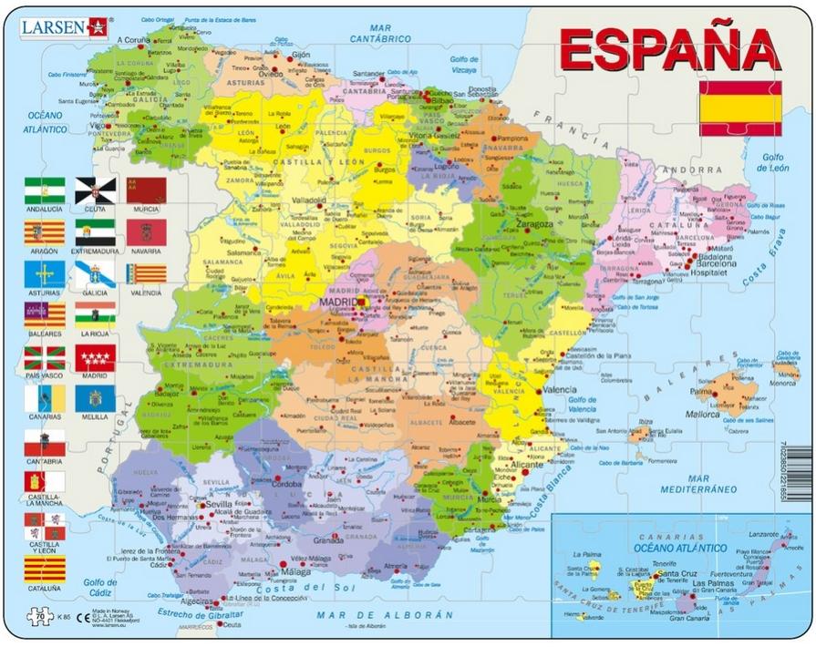 Carte De L Espagne Avec Toutes Les Villes Et Villages