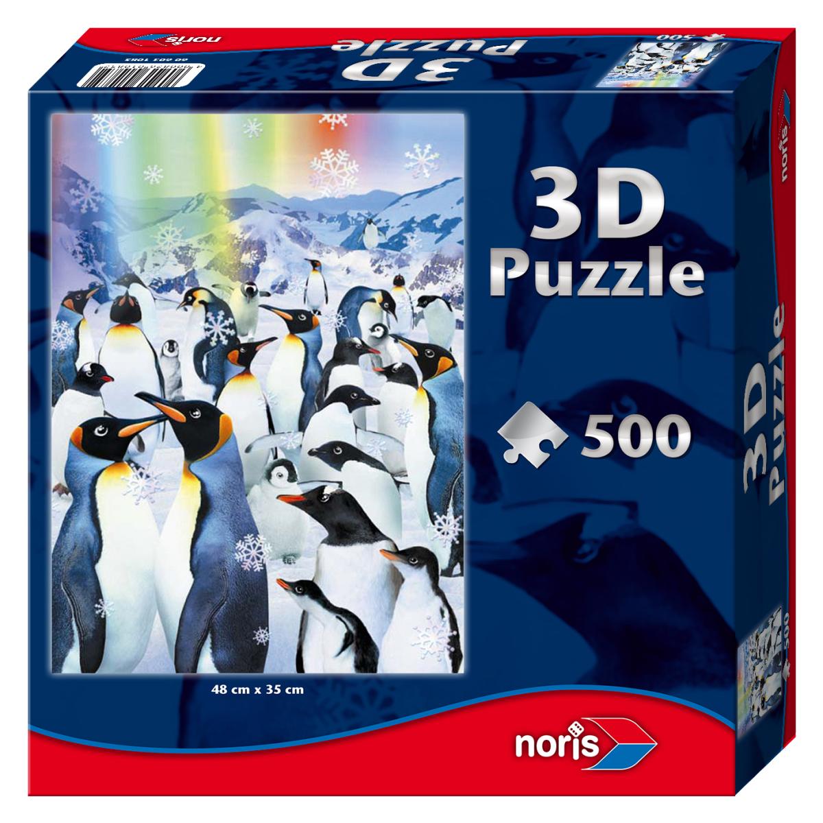 Effet 3d pingouins 500 teile noris puzzle acheter en for Piece 3d en ligne