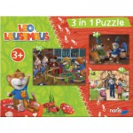 Noris-6060-31428 3 Puzzles - Léo la Souris
