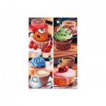 Puzzle  Noris-6060-38018 4 x 200 Pièces - Cupcakes
