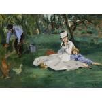 Puzzle  Grafika-Kids-00317 Edouard Manet : La Famille Monet dans leur Jardin à Argenteuil, 1874