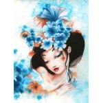 Puzzle  Grafika-Kids-00737 Misstigri : Blue Flowers