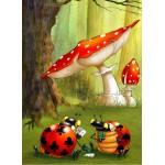 Puzzle  Grafika-Kids-00826 François Ruyer: Poker des Coccinelles