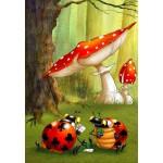 Puzzle  Grafika-Kids-00827 François Ruyer: Poker des Coccinelles