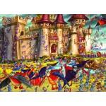 Puzzle  Grafika-Kids-00850 François Ruyer : Siège du Château Fort