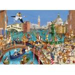 Puzzle  Grafika-Kids-00855 François Ruyer : Les Lapins à Venise