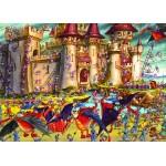 Puzzle  Grafika-Kids-00860 Pièces magnétiques - François Ruyer : Siège du Château Fort