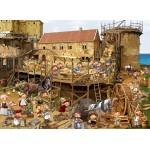 Puzzle  Grafika-Kids-00869 François Ruyer : Construction au Moyen-Âge