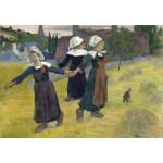 Puzzle  Grafika-Kids-01301 Gauguin Paul : Danse Bretonne des Filles à Pont Aven, 1888