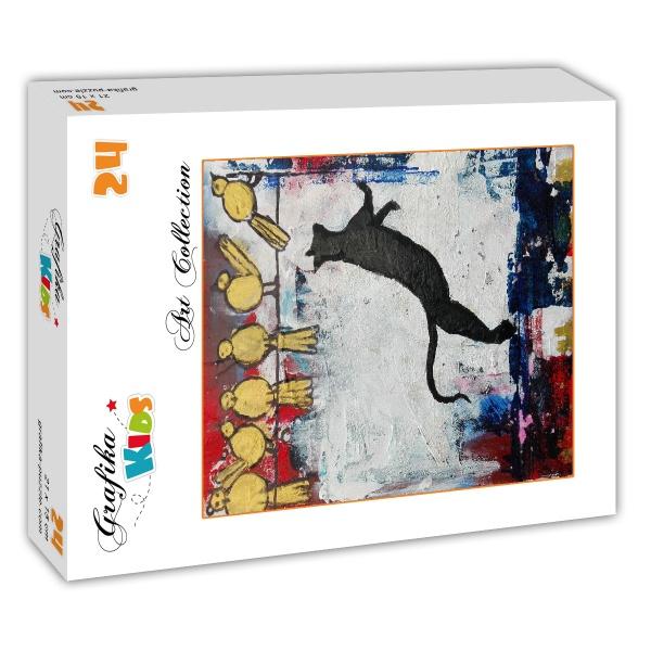 jeux de chat 24 teile grafika kids puzzle acheter en ligne. Black Bedroom Furniture Sets. Home Design Ideas