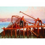 Puzzle  Gold-Puzzle-60829 Fausto Zonaro: Pêcheurs