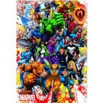 Puzzle  Educa-15560 Les héros de Marvel
