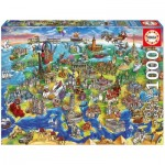 Puzzle  Educa-16752 European World