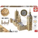 Educa-16971 Puzzle 3D en Bois - Big Ben & Parliament