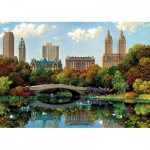 Puzzle  Educa-17136 Central Park Bow Bridge
