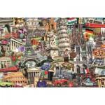 Puzzle  Jumbo-18355 Best of des Villes d'Europe