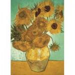 Puzzle  Jumbo-18396 Vincent Van Gogh - Les Tournesols