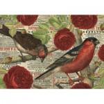 Puzzle  Jumbo-18398 Les Oiseaux aiment les Fleurs