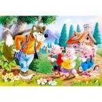 Puzzle  Castorland-06519 Les Trois Petits Cochons