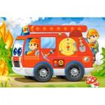 Castorland-08521-BP4 Mini Puzzle - Pompiers