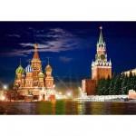 La Place Rouge de nuit, Moscou 1000 pièces - Castorland