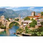 Puzzle  Castorland-102495 Mostar, Bosnie-Herzégovine