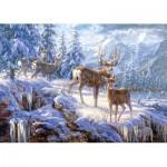 Puzzle  Castorland-102501 Cerfs dans la neige
