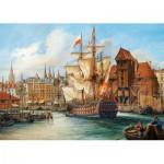 Puzzle  Castorland-102914 Pologne : Vieux Gdansk