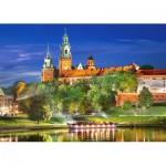 Puzzle  Castorland-103027 Château du Wawel la nuit