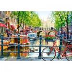 Puzzle  Castorland-103133 Amsterdam Landscape