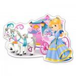 Puzzle  Castorland-120017 Carrosse de Princesse