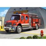 Puzzle  Castorland-12831 Camion de pompiers
