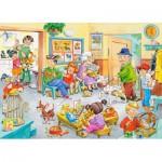 Puzzle  Castorland-13104 Chez le Vétérinaire