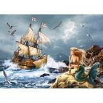 Puzzle  Castorland-13166 Les Mystères de la Mer