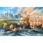 Puzzle  Castorland-151349 L'Aventure vers le Nouveau Monde