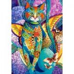 Puzzle  Castorland-151448 David Galchutt: Feline Fiesta