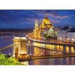 Puzzle  Castorland-200405 Budapest au crépuscule