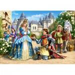 Castorland-21017 2 Puzzles - Charmantes princesses