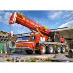 Castorland-21048 2 Puzzles - Pelleteuse et camion de pompier