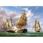 Puzzle  Castorland-300037 La bataille de Trafalgar