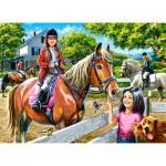 Puzzle  Castorland-30095 Equitation
