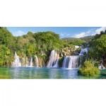 Puzzle  Castorland-400133 Cascades du Parc National de Krka, Croatie