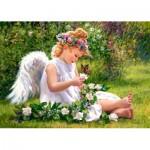 Puzzle  Castorland-51991 L'Ange du Jardin