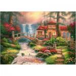 Puzzle  Castorland-52202 Chuck Pinson: Cascade de la Rivière Sierra