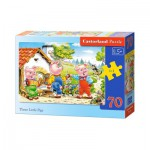 Puzzle  Castorland-B-007035 Les 3 Petits Cochons