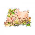 Puzzle  Castorland-B-015016 Le Porcelet et sa Mère