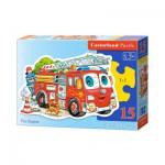 Puzzle  Castorland-B-015078 Camion de Pompier