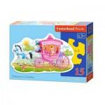 Puzzle  Castorland-B-015122 Princesse dans son Carrosse