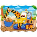 Puzzle  Castorland-B-03464 Pelleteuse Jaune
