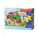 Puzzle  Castorland-B-035120 La Locomotive Verte